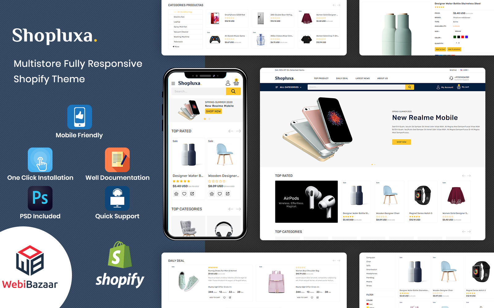 Shopluxa - Multipurpose Premium Shopify Website Template