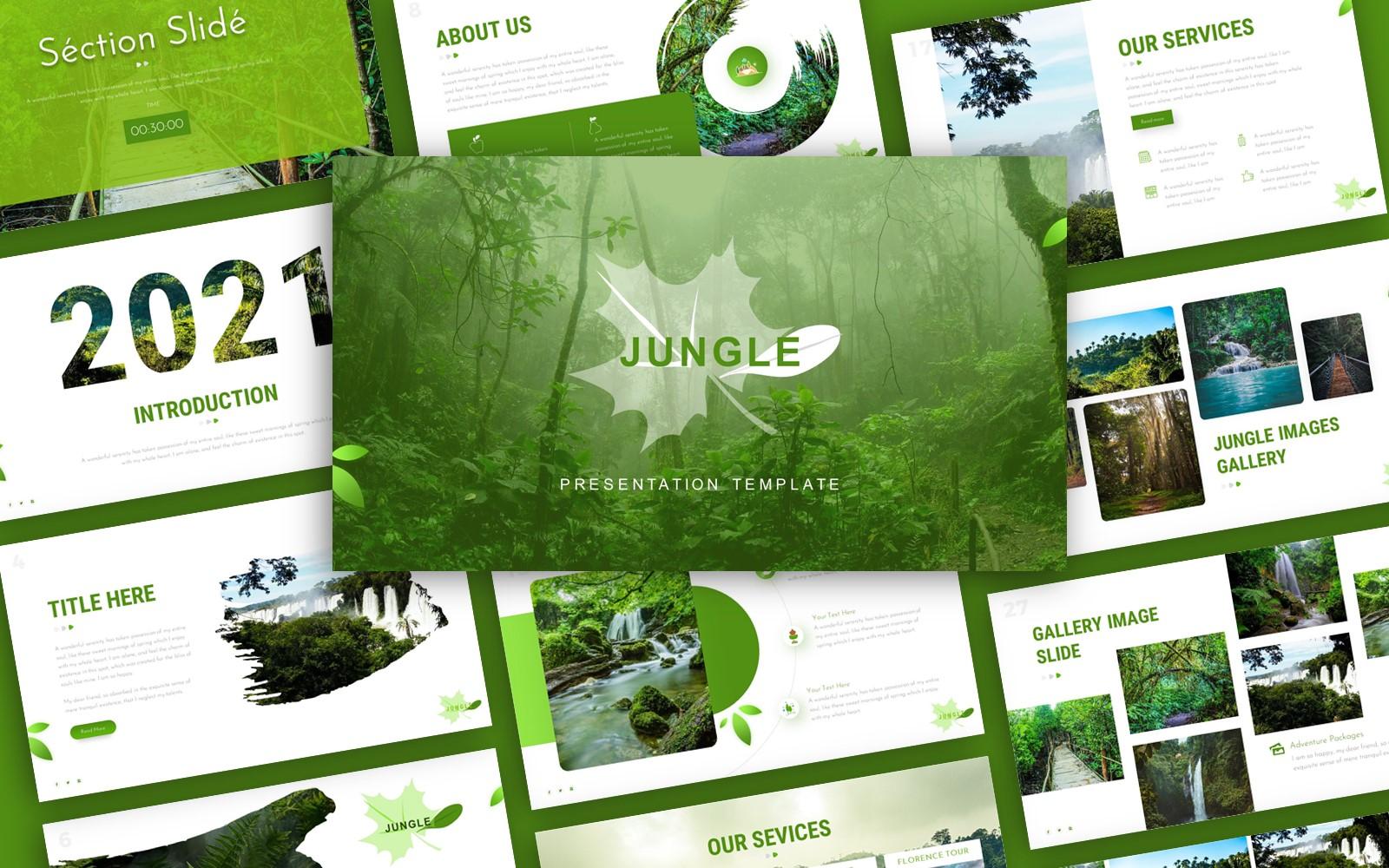 Jungle Environment Presentation PowerPoint Template