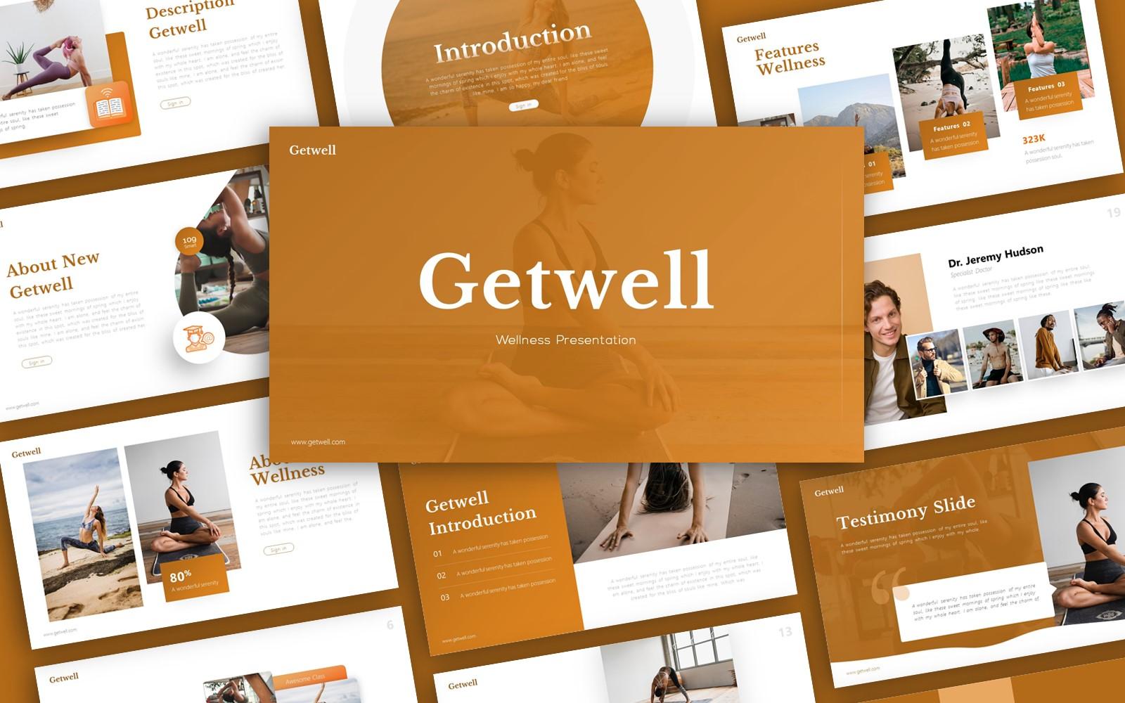 Getwell Wellness Presentation PowerPoint Template
