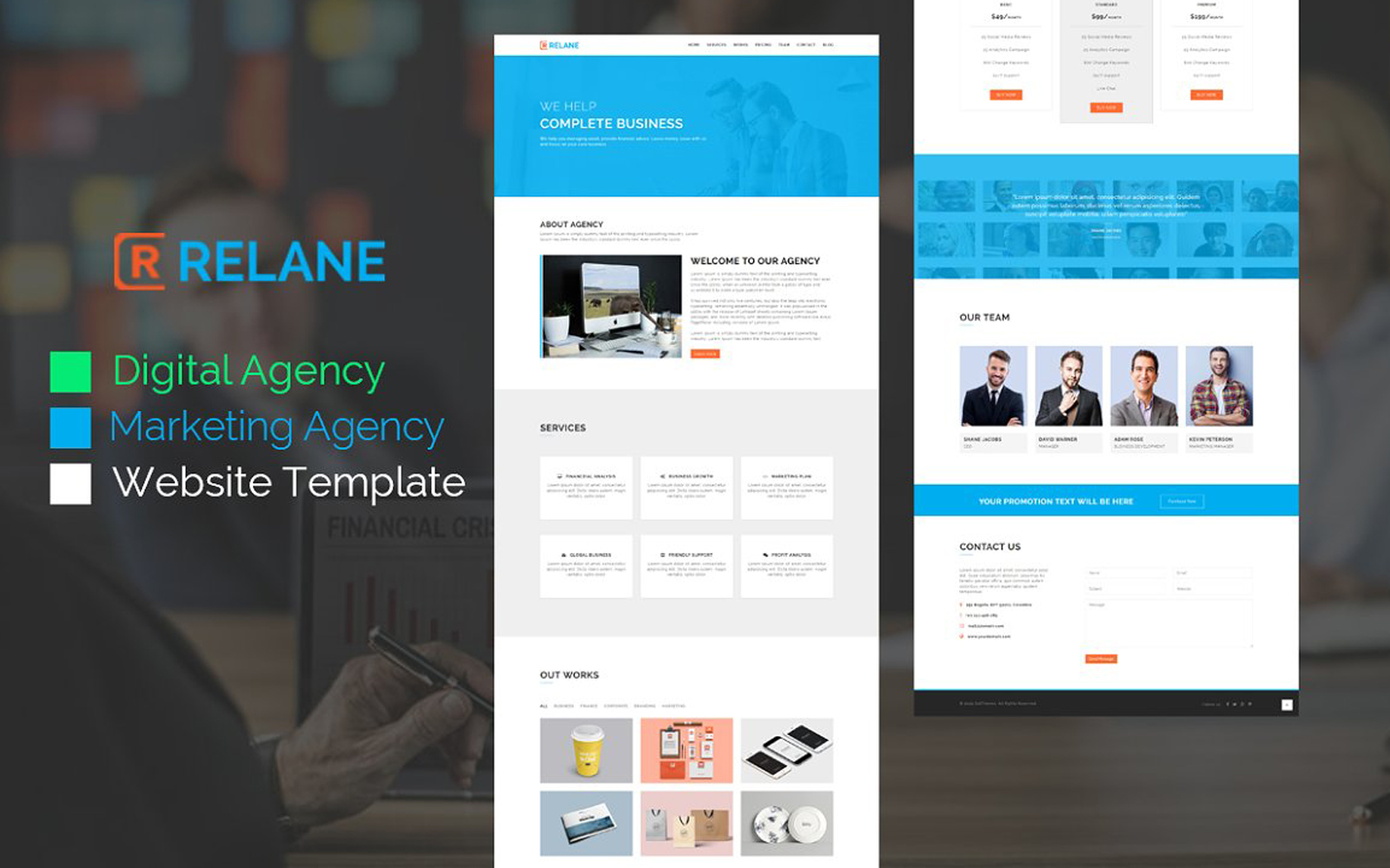 Relane - Marketing Agency HTML Landing Page Template