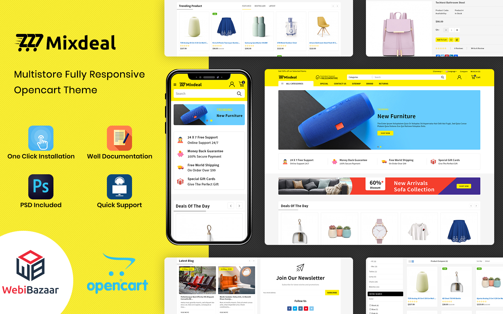 Mixdeal - Multiparous Electronic OpenCart Theme