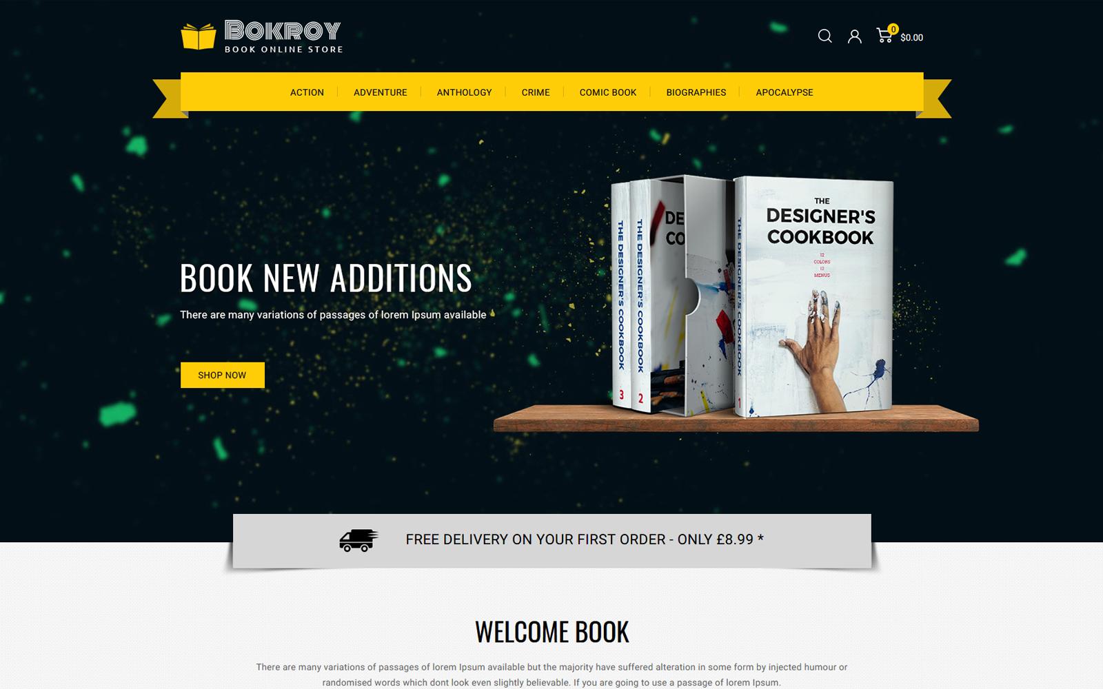 Bokroy - Book and Stationery Prestashop Theme