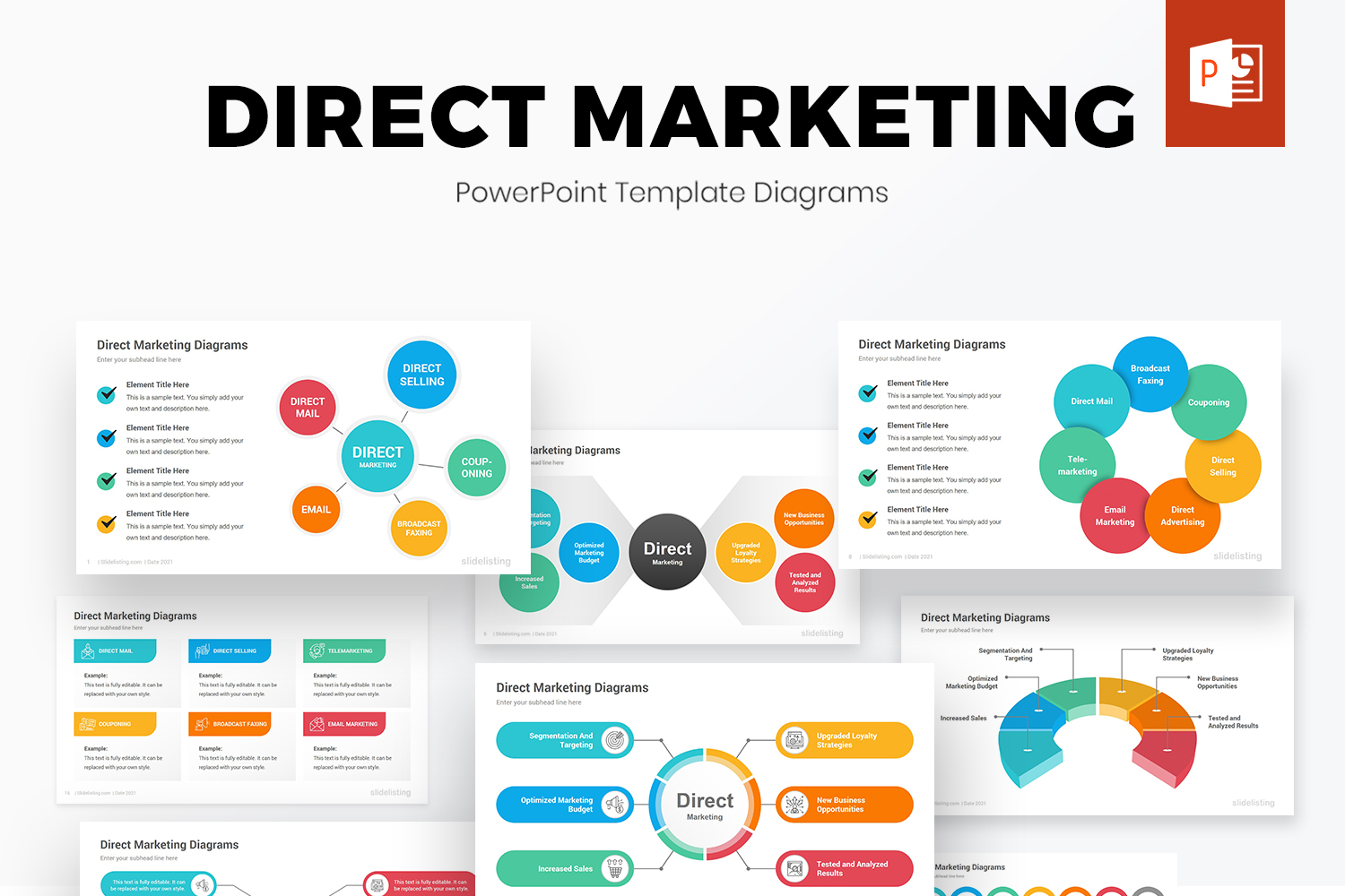Direct Marketing PowerPoint Diagrams