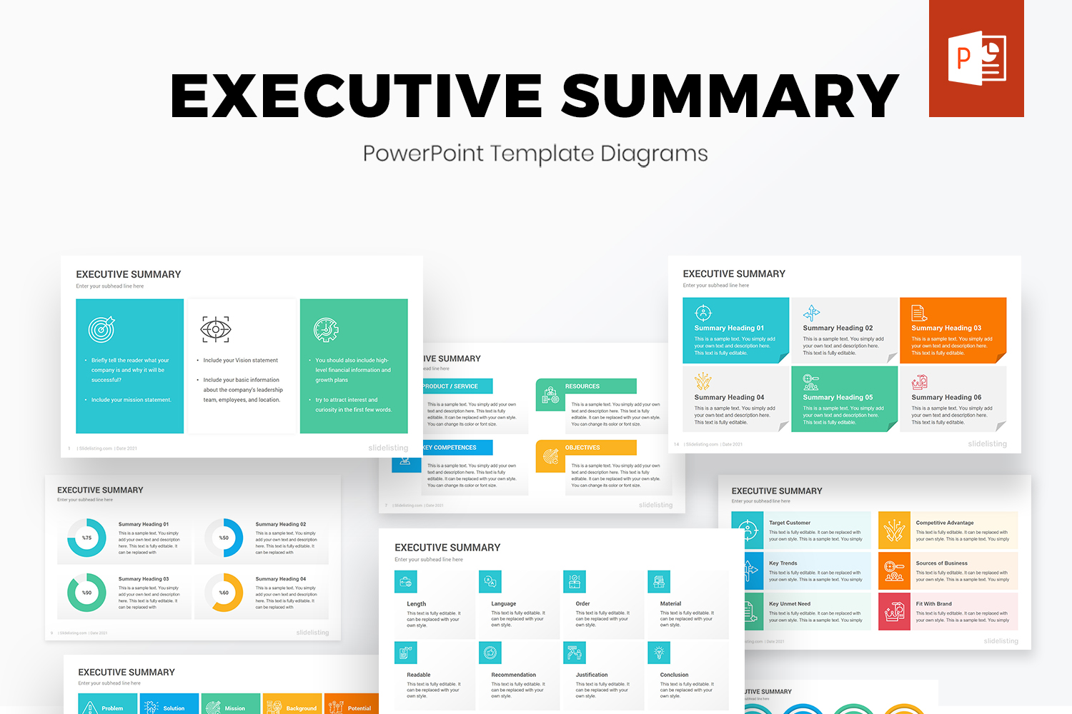 Executive Summary PowerPoint Diagrams
