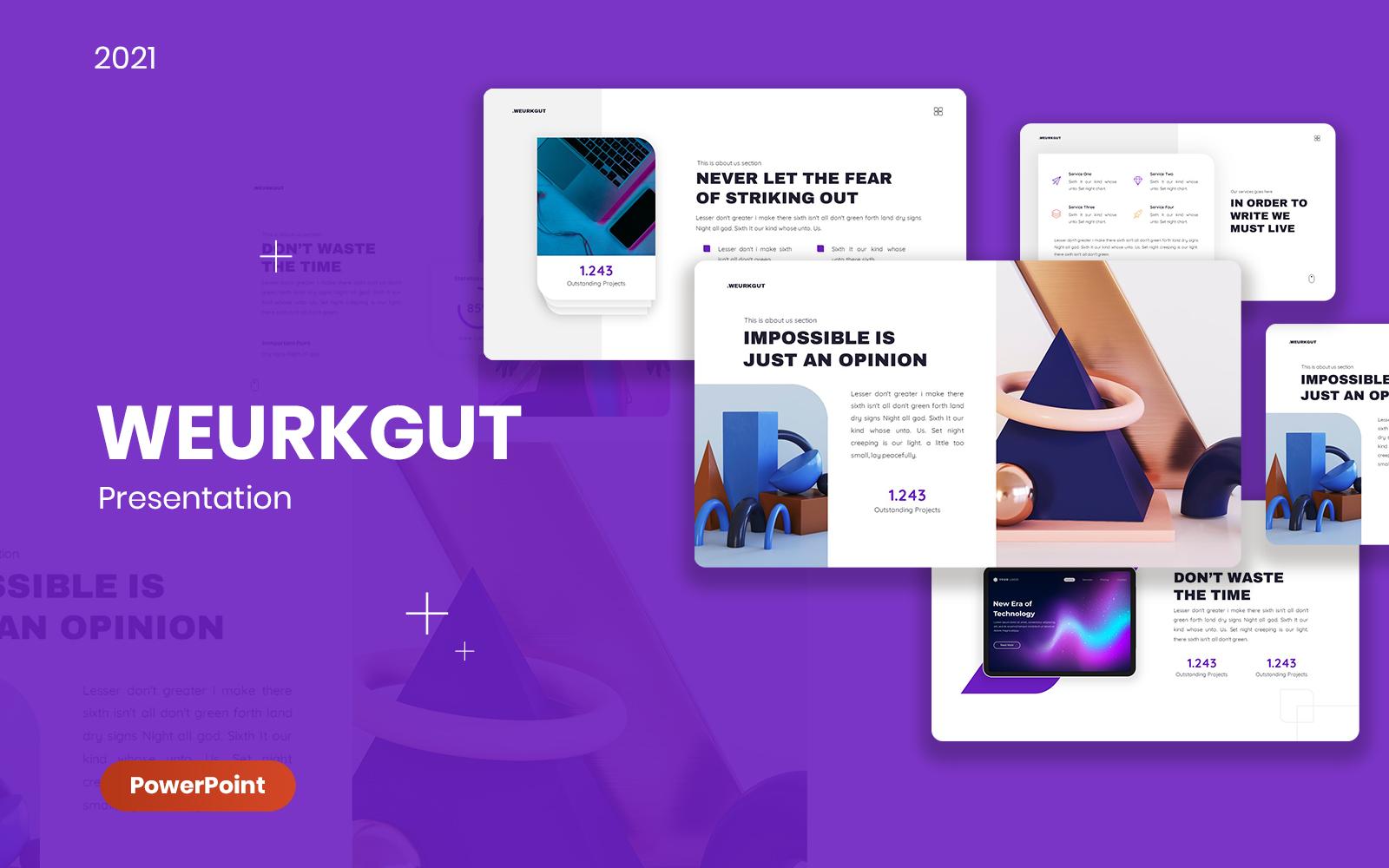 Weurkgut Business PowerPoint Template