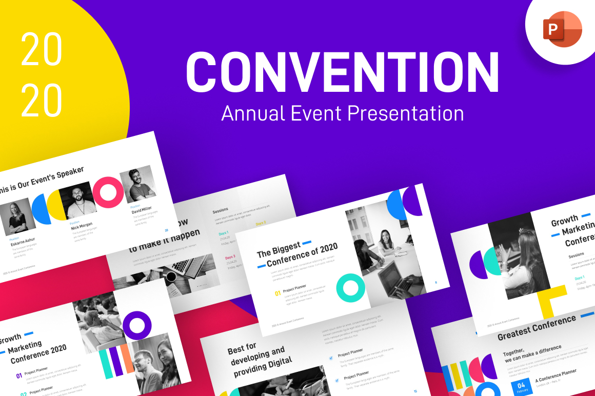 Convention Annual Event Creative Powerpoint Template