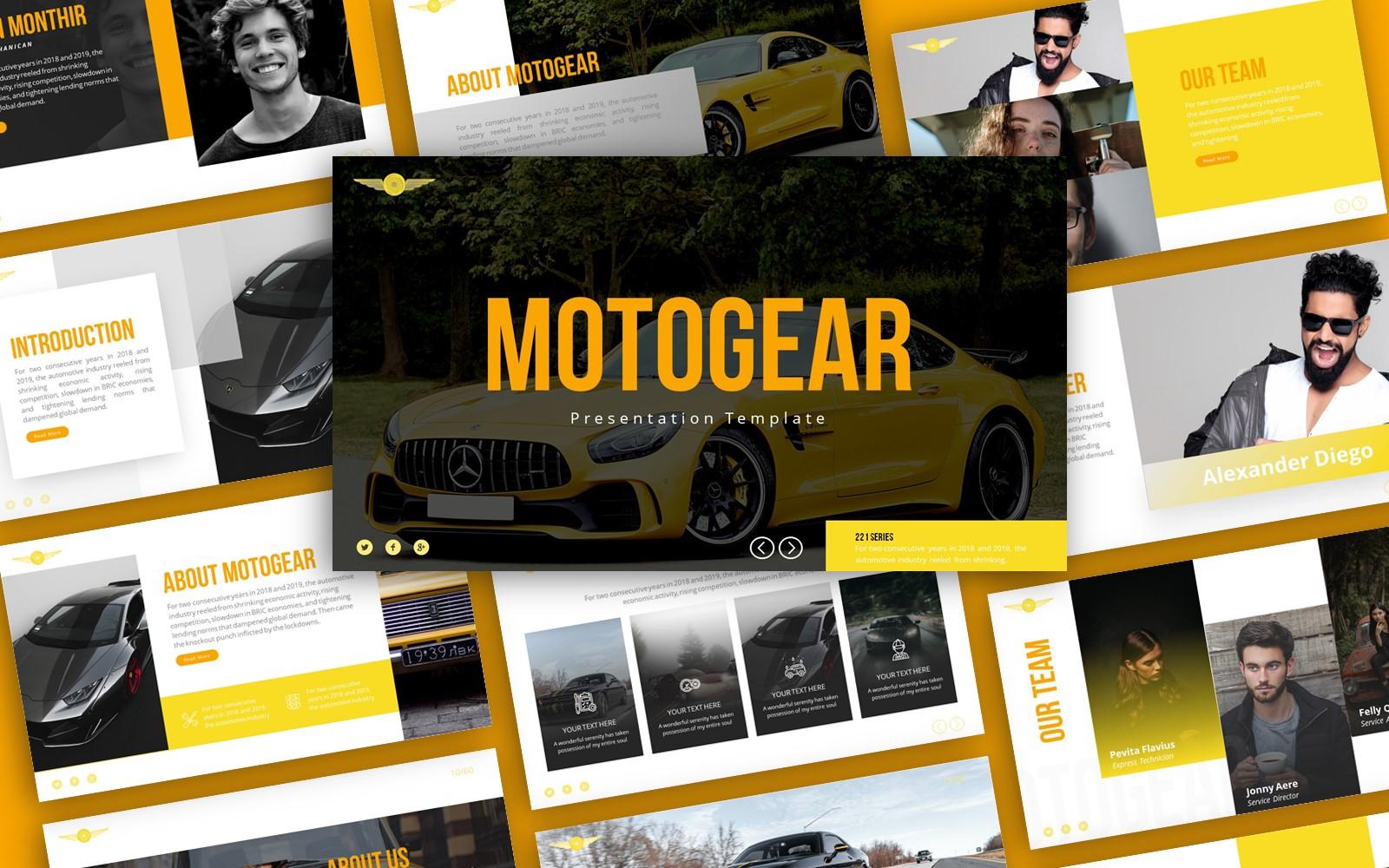 Motogear  Automotive Presentation PowerPoint Template