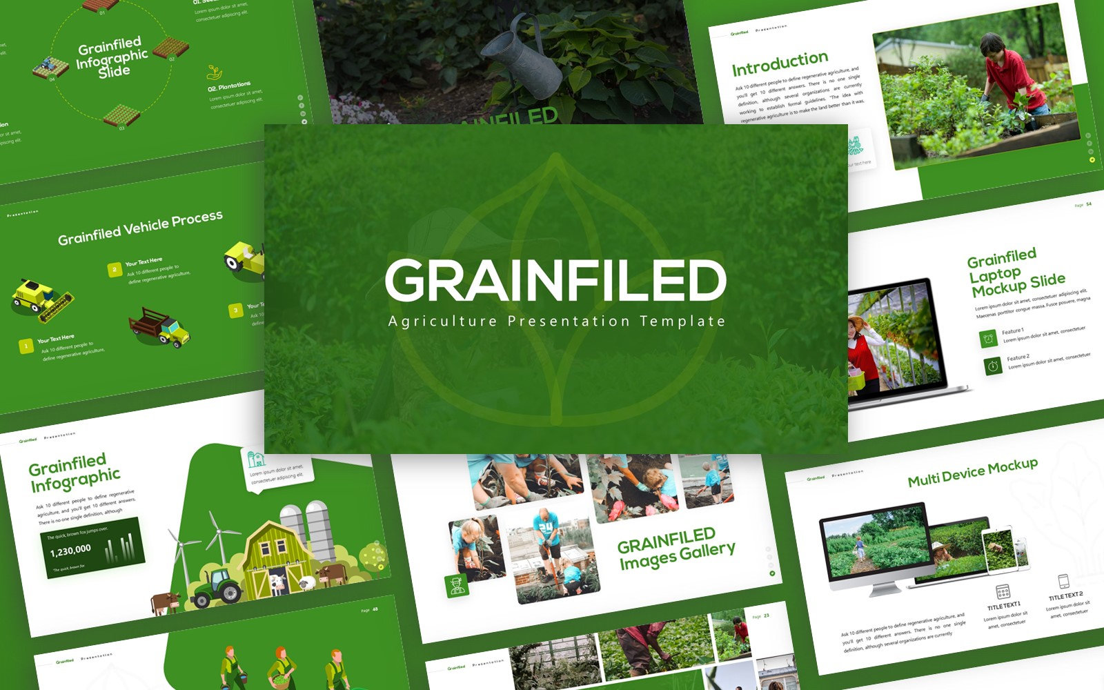 Grainfield - Agriculture Multipurpose PowerPoint Template