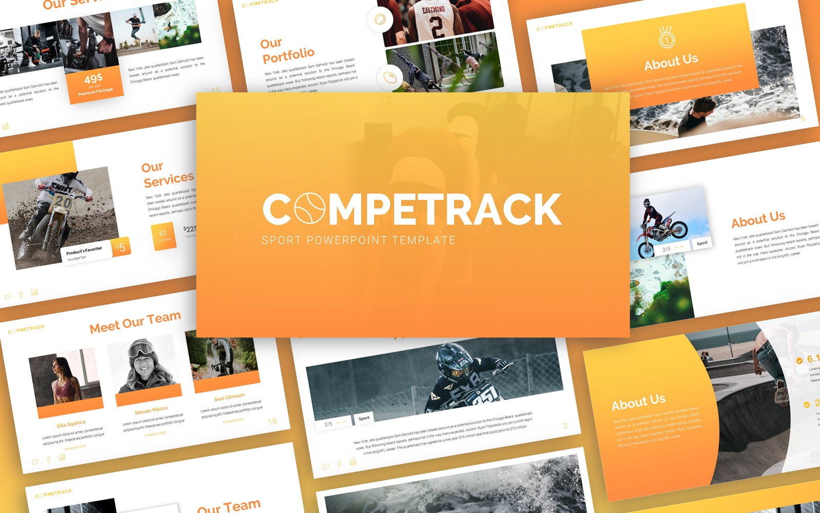 Competrack - Sport Multipurpose PowerPoint Template