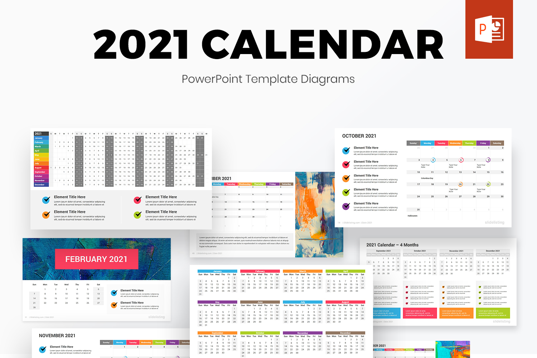 2021 Calendar PowerPoint Diagrams