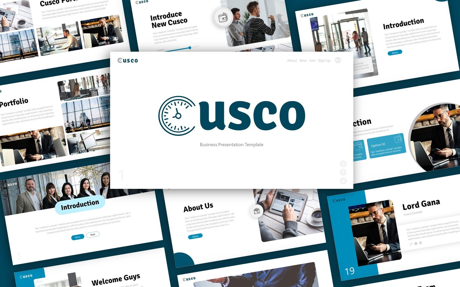 Cusco Business Presentation PowerPoint Template