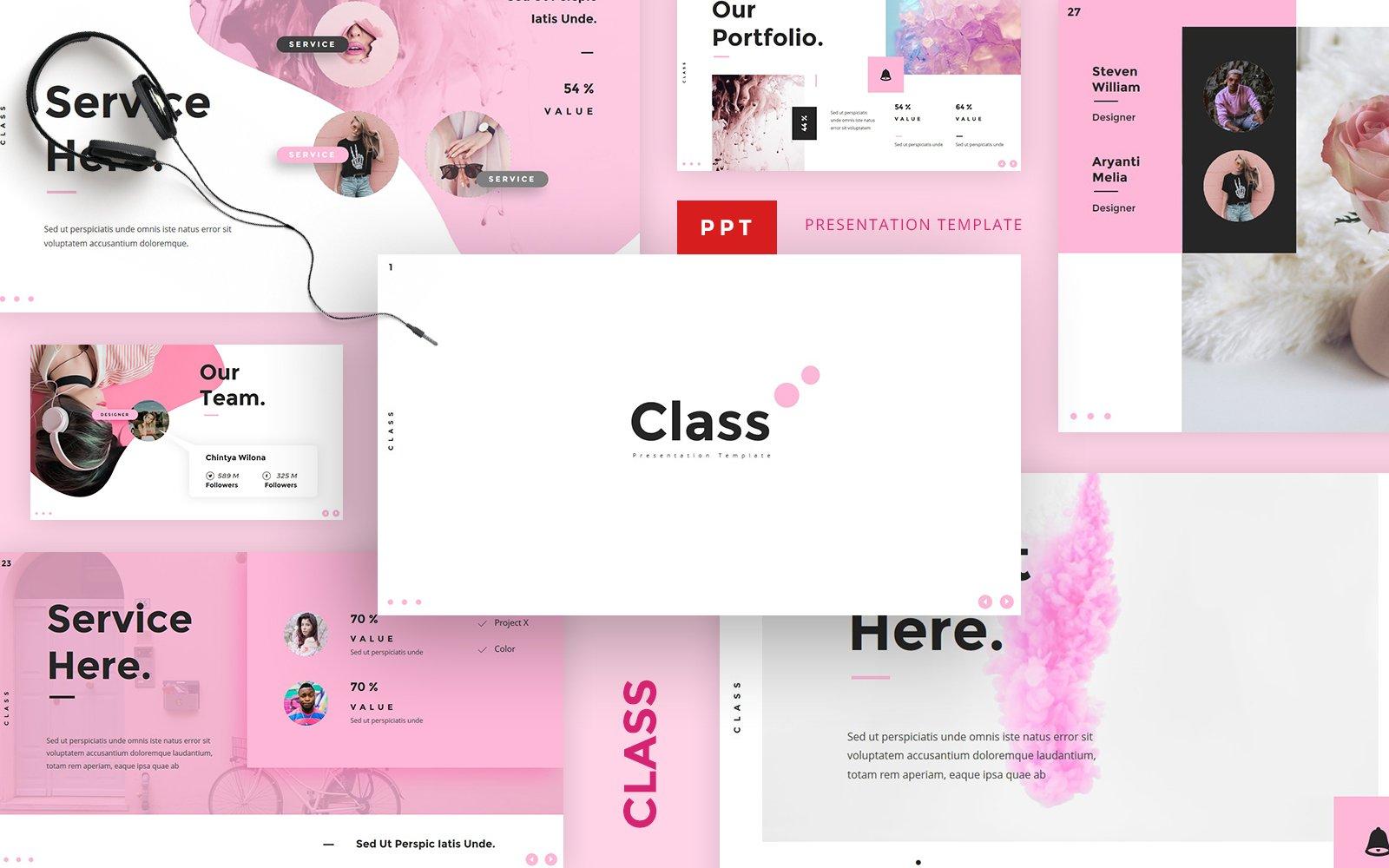 Class - Beauty Fashion Powerpoint template