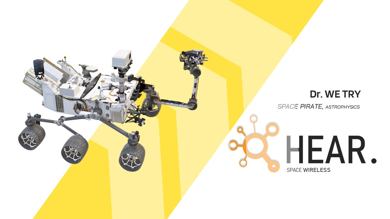 Space Rover Science PowerPoint template