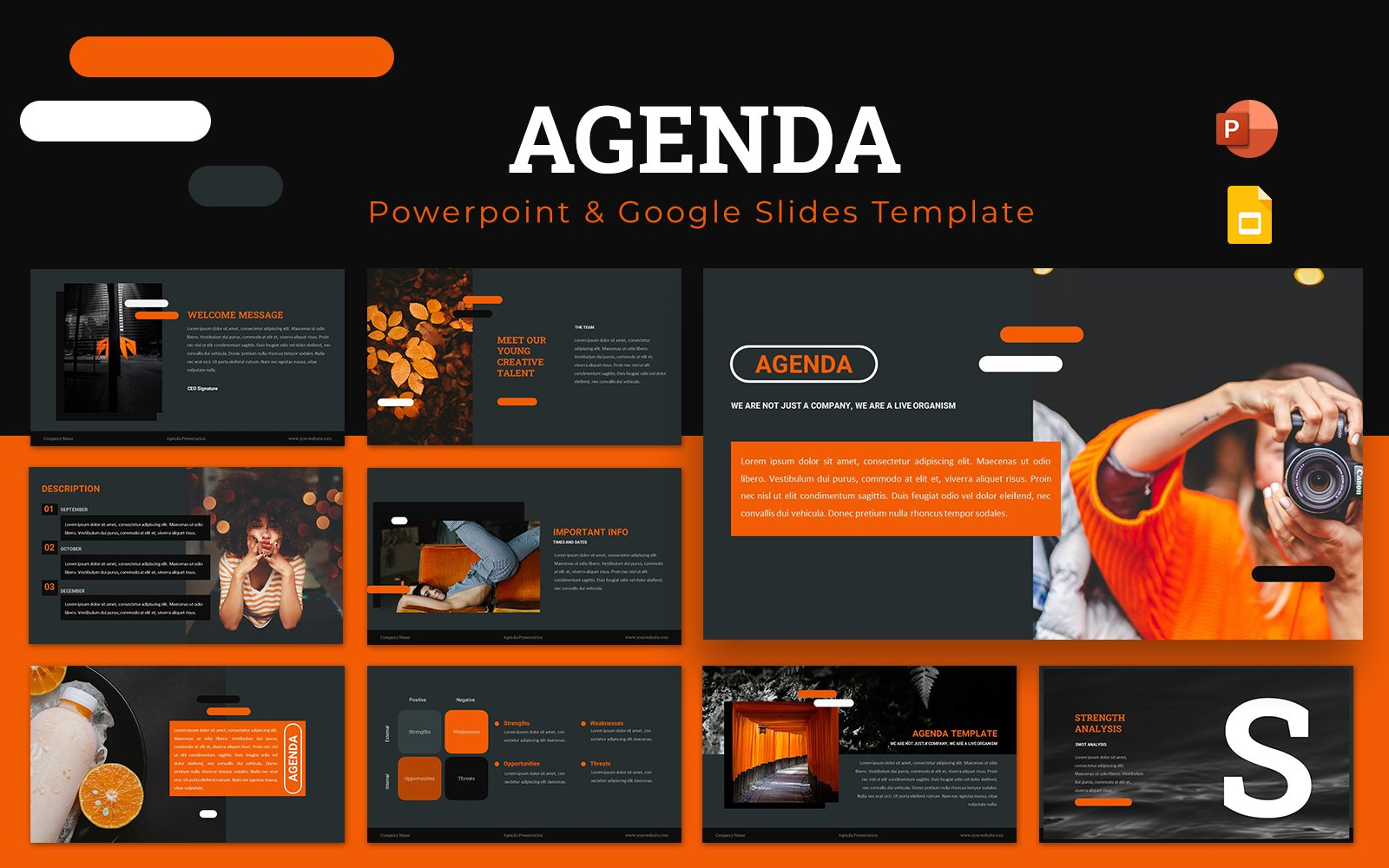 Agenda Powerpoint Presentation Template