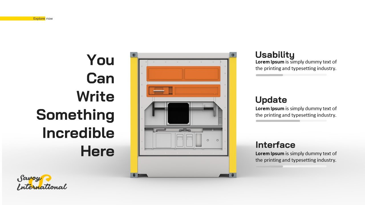 Complete Business Powerpoint Presentation- Container
