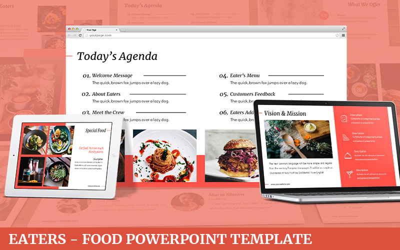 Eaters - Food Powerpoint Template