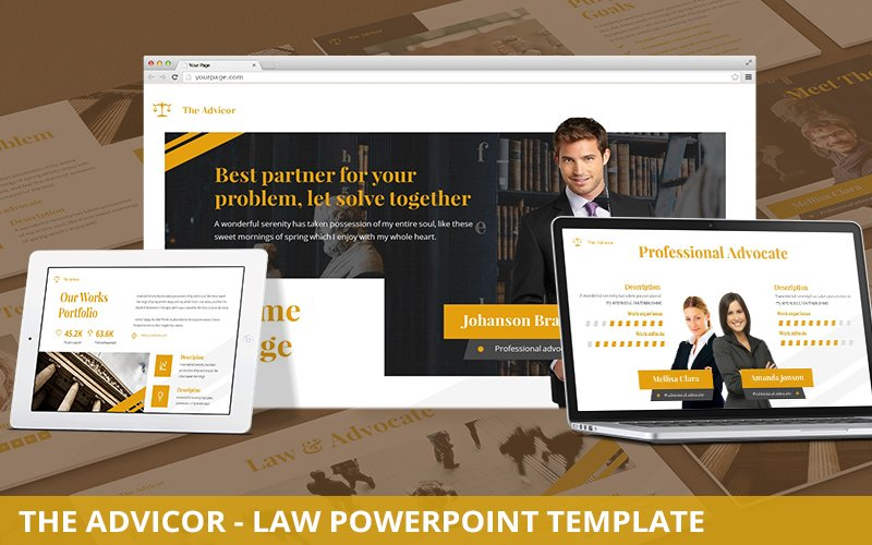 The Advicor - Law Powerpoint Template