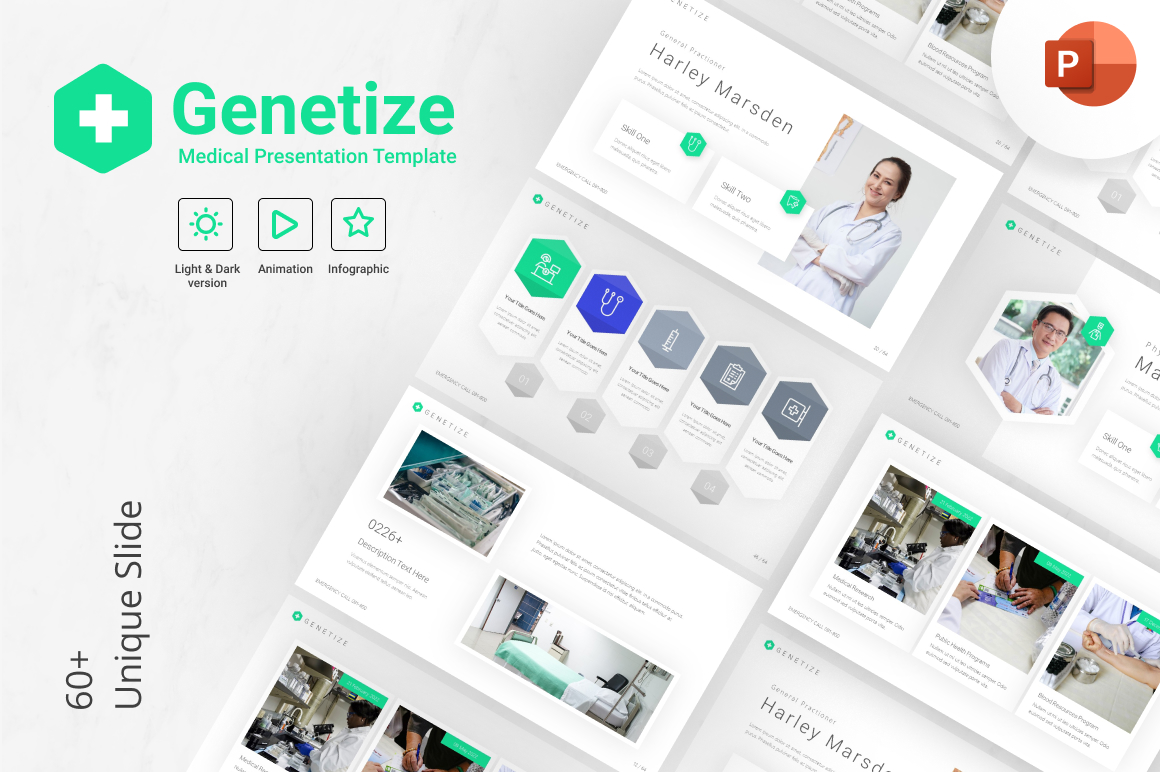 Genetize Medical Modern PowerPoint Presentation Template