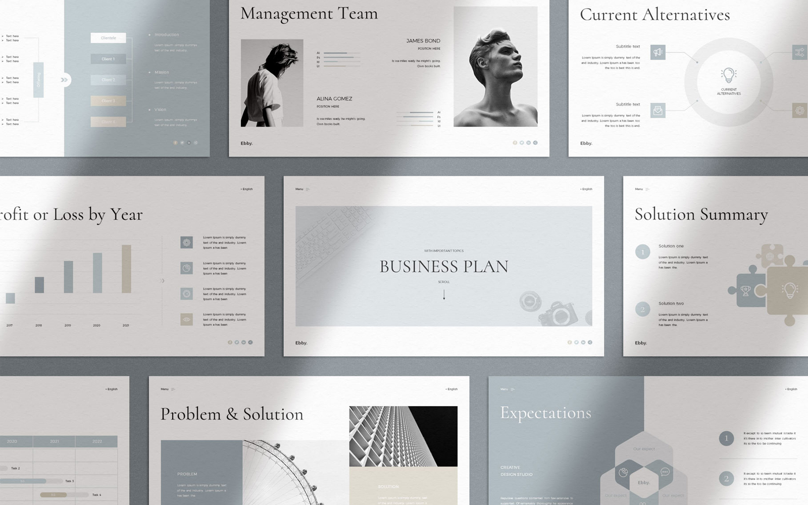 Ebby - Business Plan PowerPoint Template