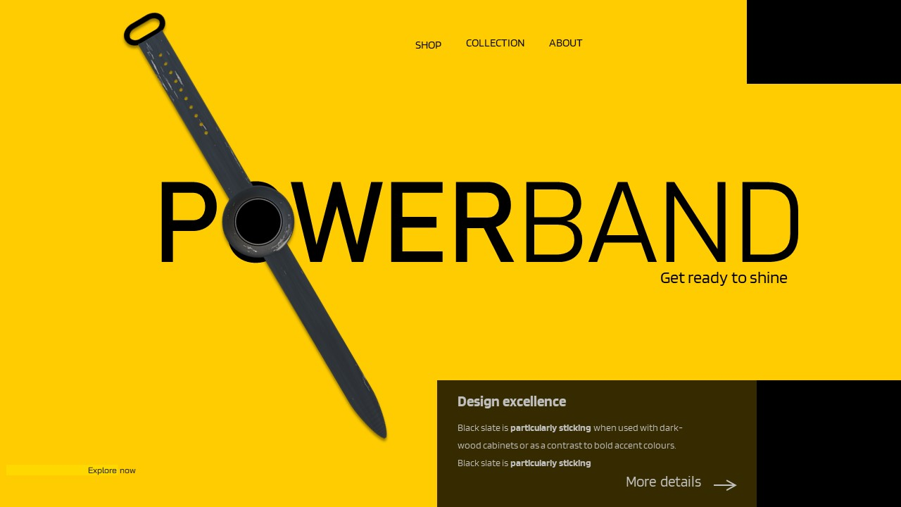 Modern Design PowerPoint template- Power Band