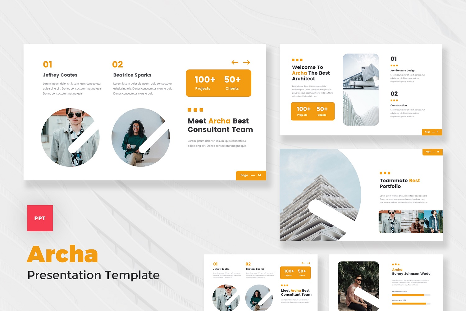 Archa - Architecture Agency PowerPoint Template