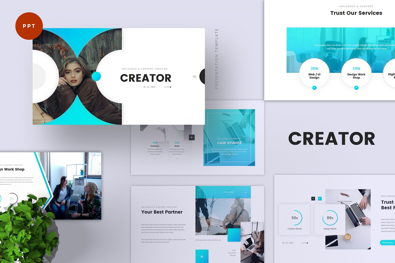 Creator - Influencer & Content Creator PowerPoint Template