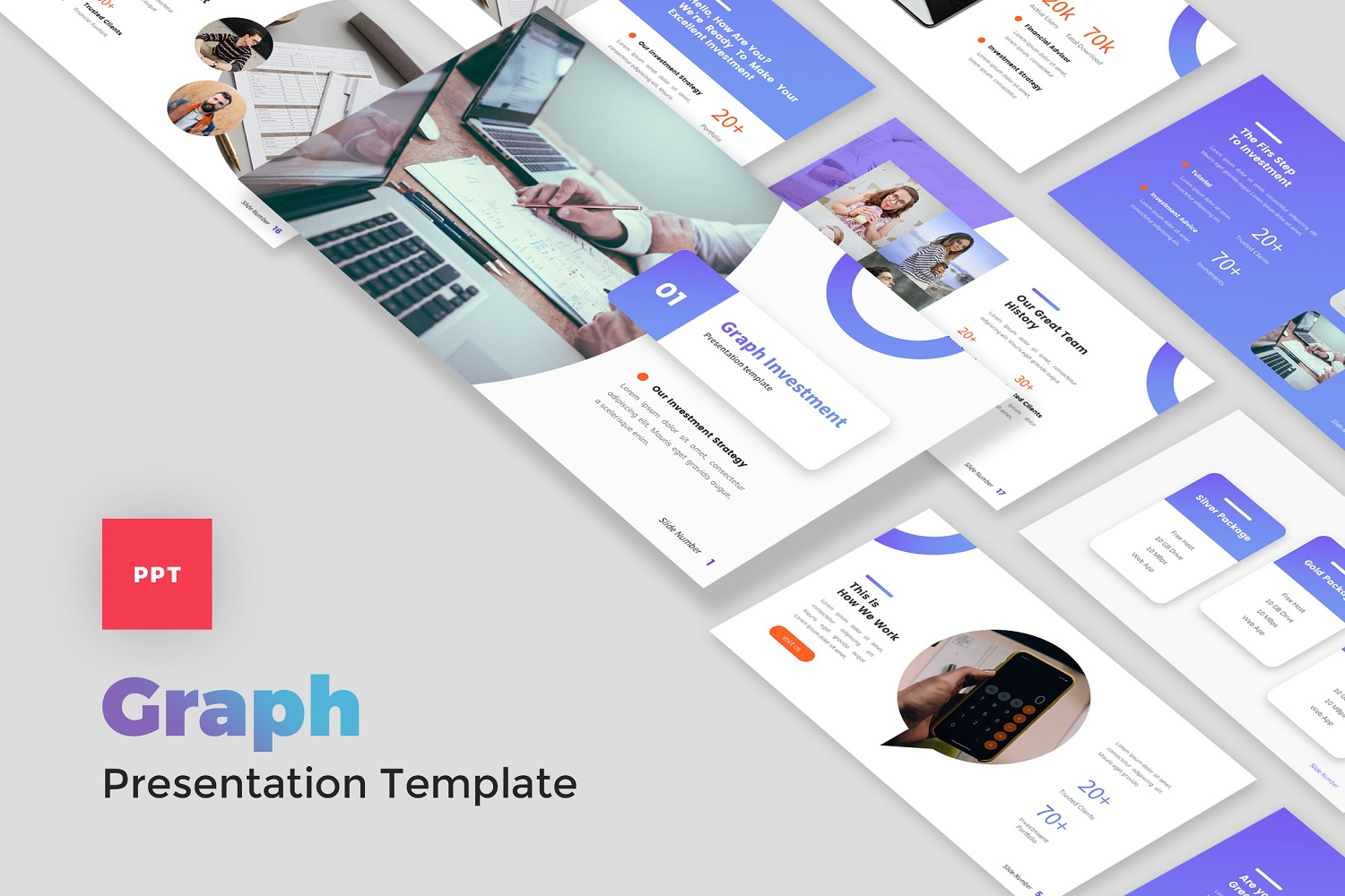 Graph - Investment and Finance PowerPoint Template