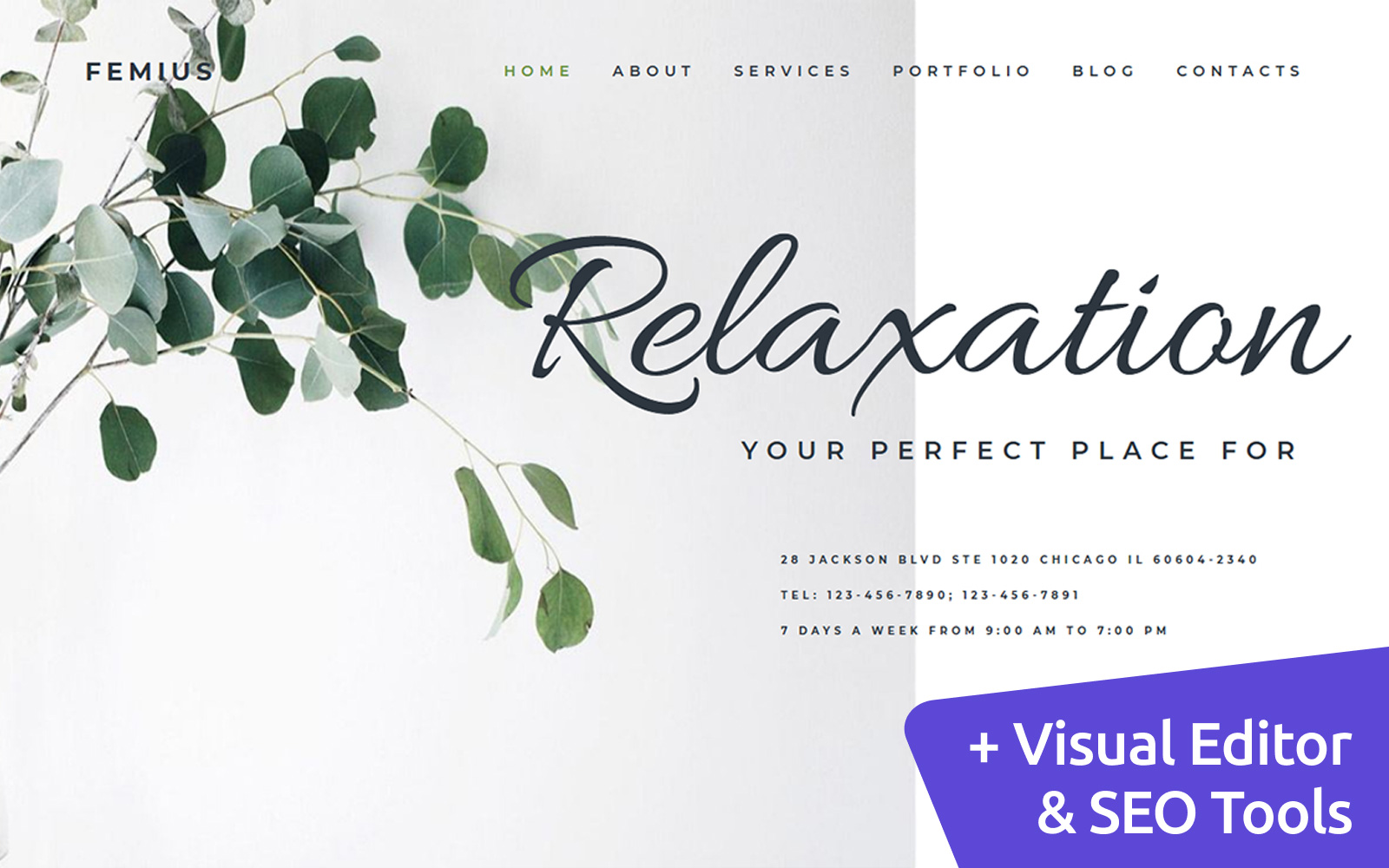 Massage Therapy MotoCMS Website Template