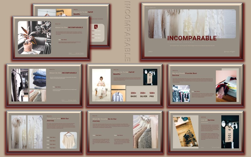 Incomparable – Creative & Minimal PowerPoint Presentation Template