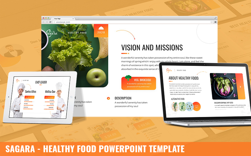 Sagara - Healthy Food Powerpoint Template