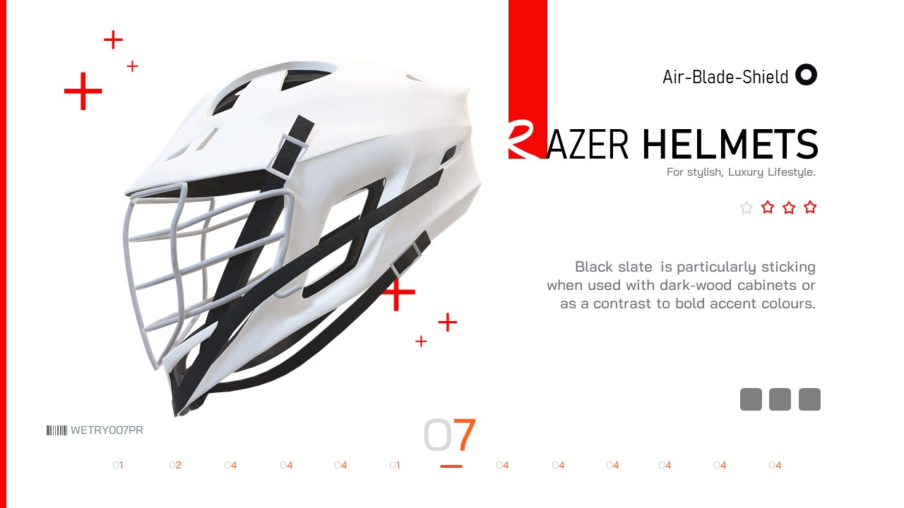 Infographic Pack - Helmet Presentation Asset PowerPoint template