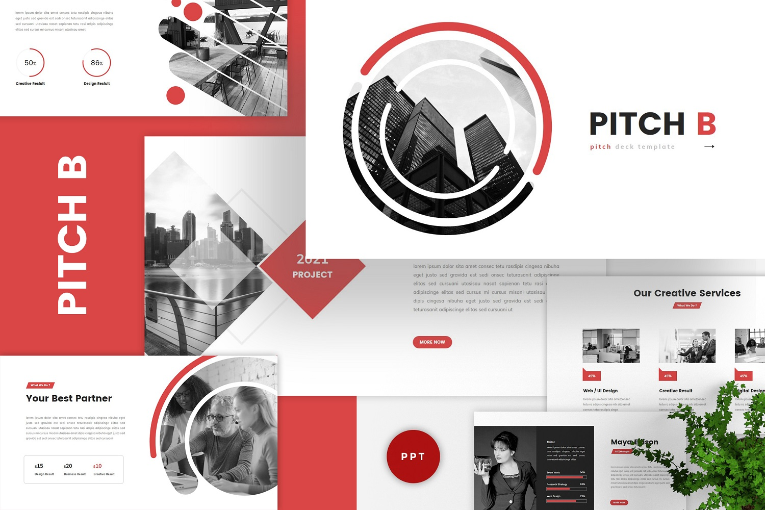 Pitch B - Pitch Deck & Business PowerPoint Template