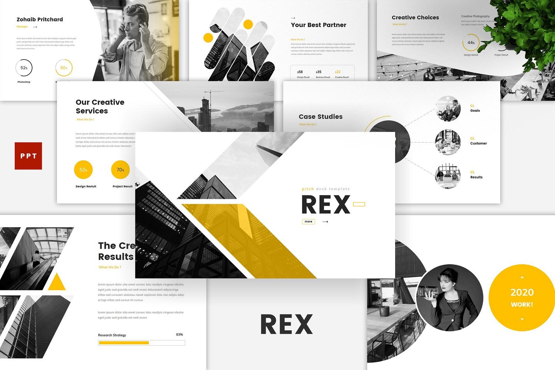Rex - Pitch Deck PowerPoint Template