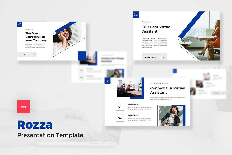 Rozza - Virtual Assistent & Secretary PowerPoint Template