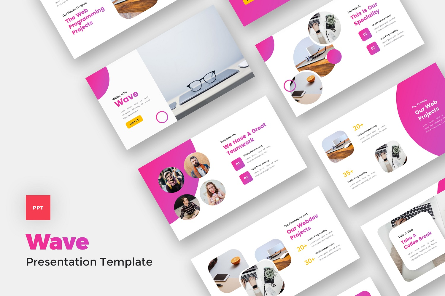 Wave - IT Solutions & Services PowerPoint Template
