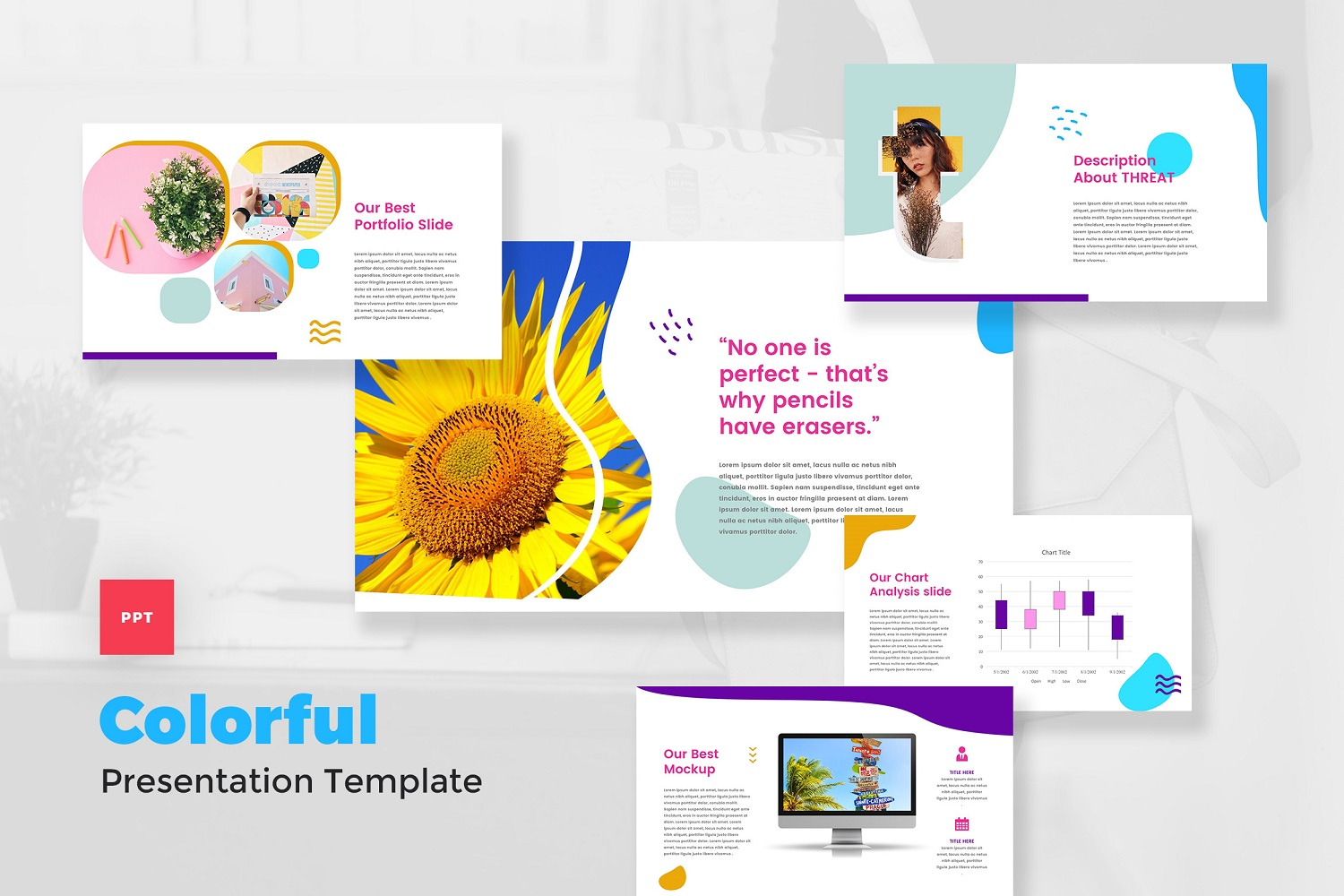 Colorful - Pop Art PowerPoint Template
