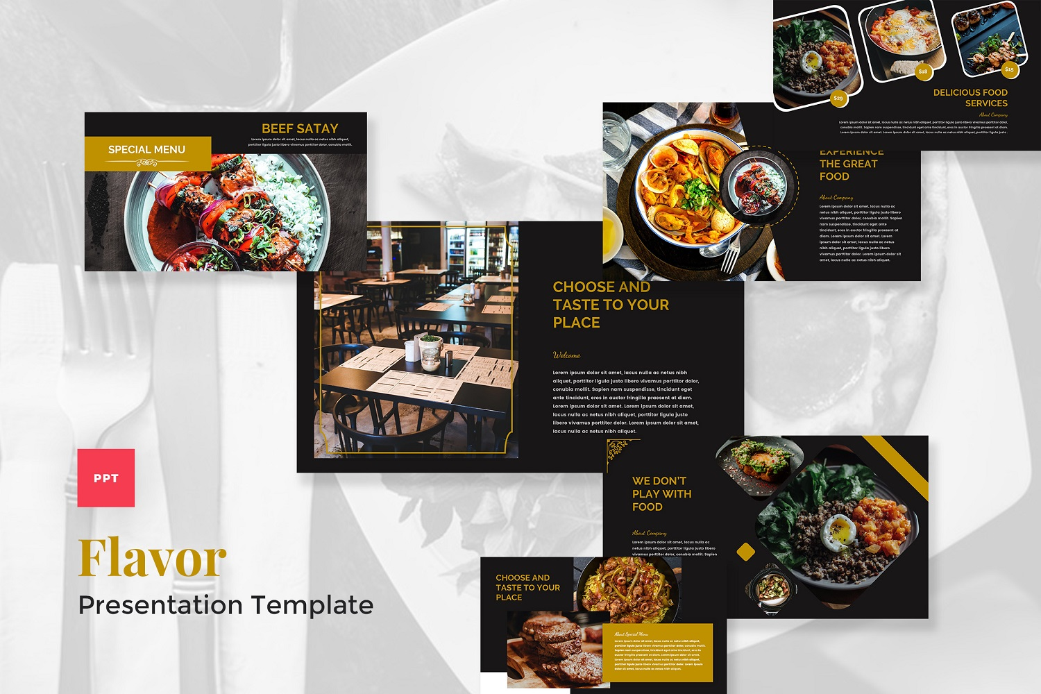 Flavor - Catering & Food PowerPoint Template