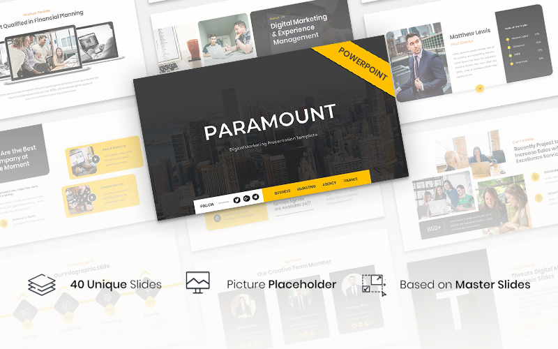 Paramount - Digital Marketing Presentation PowerPoint Template