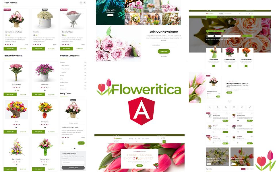 Floristica Flowers & Roses Angular JS template