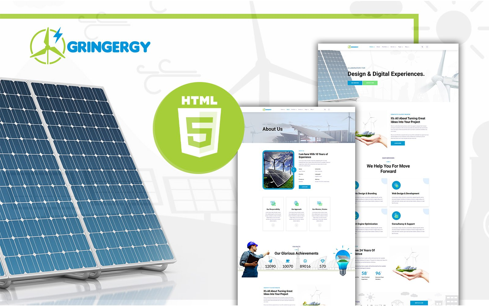 Grinenrgy Green Energy and Solar Power HTML5 Template