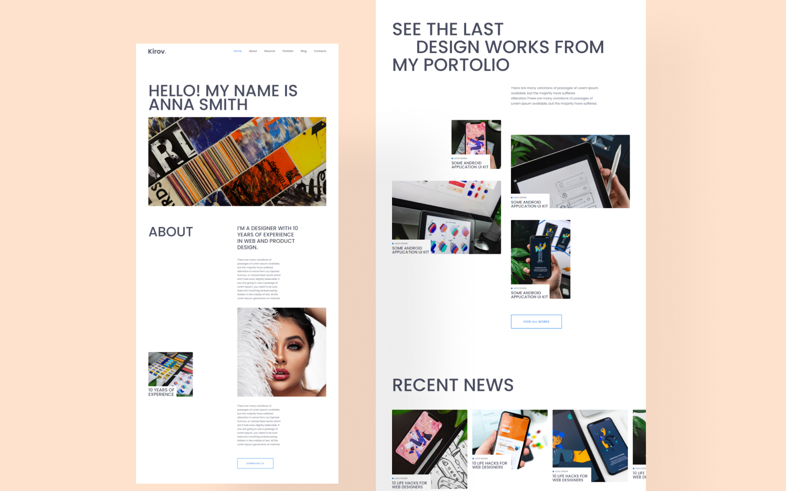 HTML 響應式網頁網站模板