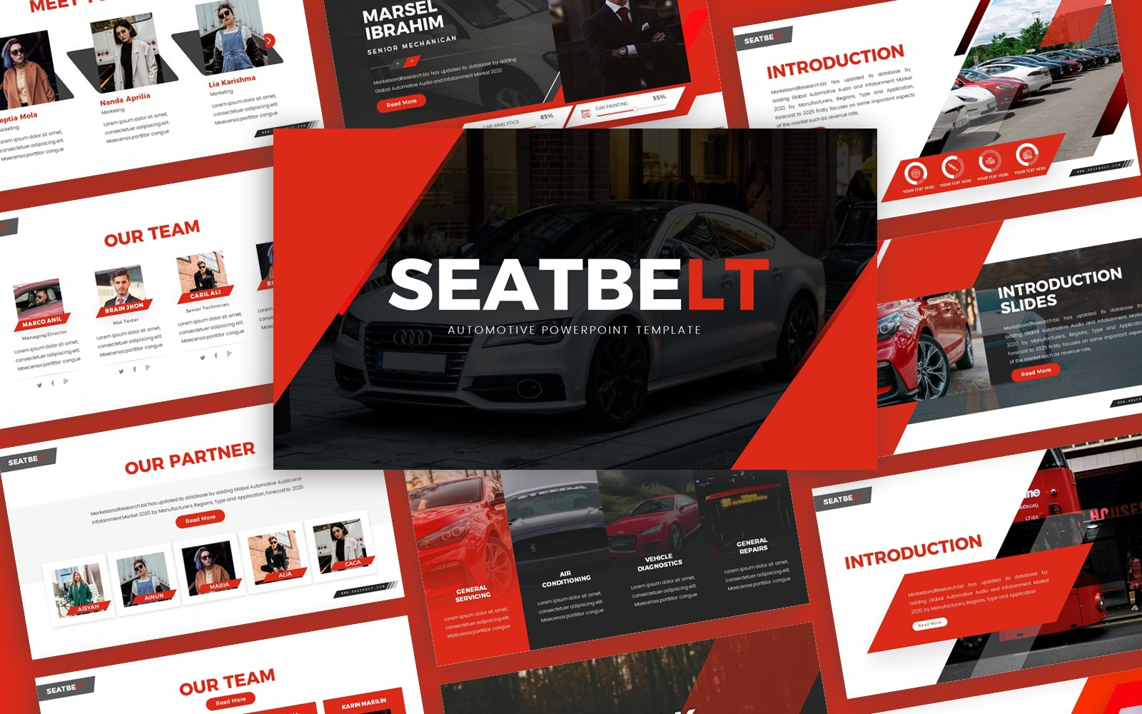 Seatbelt - Automotive Multipurpose PowerPoint Template