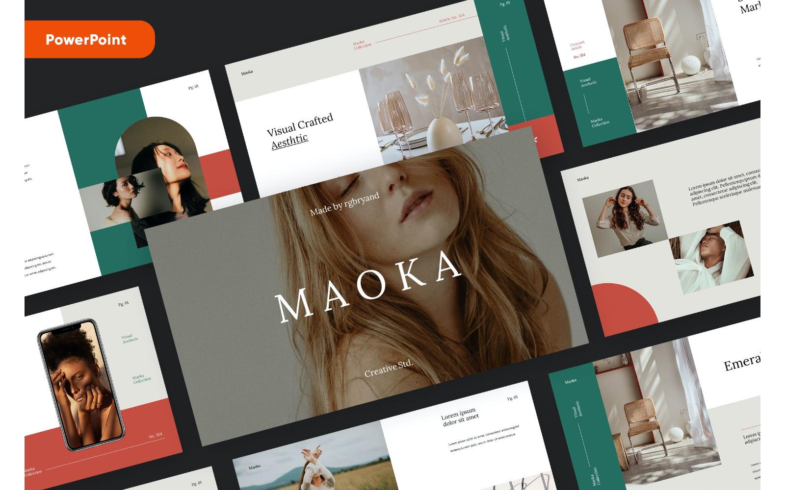 MAOKA - Creative & Elegant Studio Powerpoint template