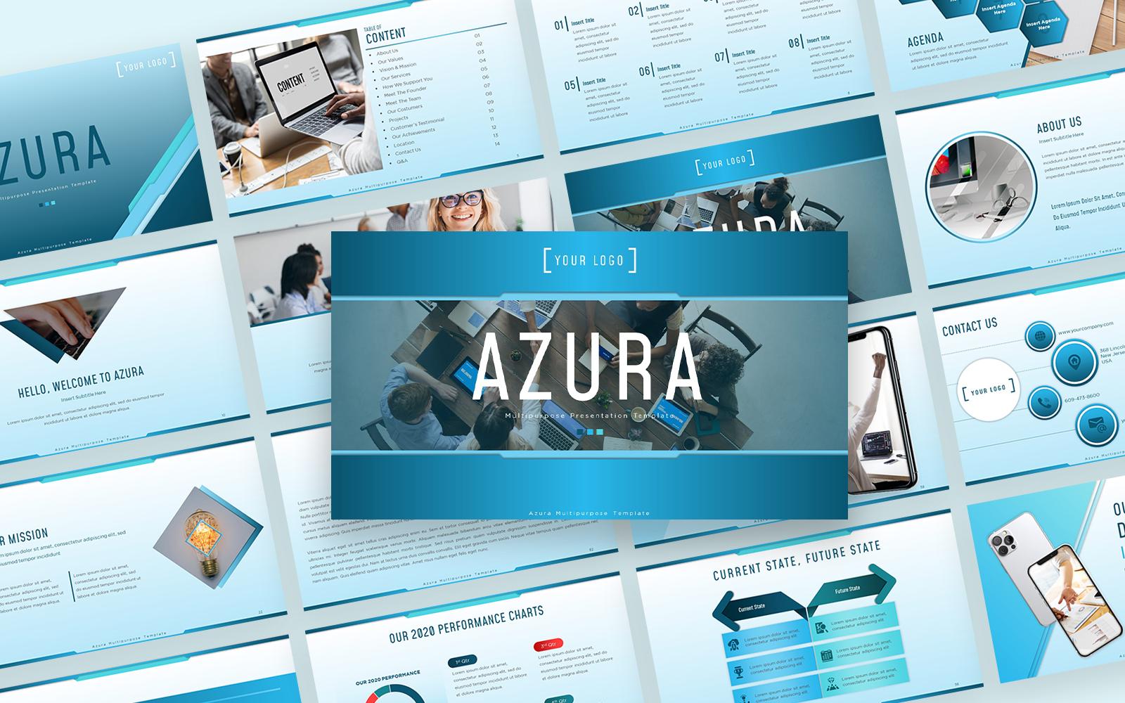 Azura Multipurpose Presentation PowerPoint Template