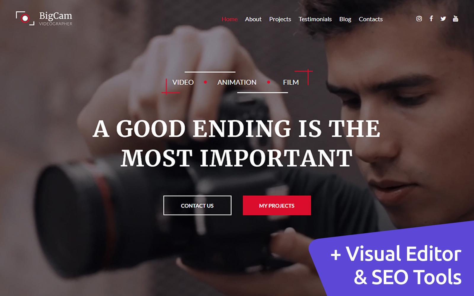 Videographer Premium Moto CMS 3 Website Design