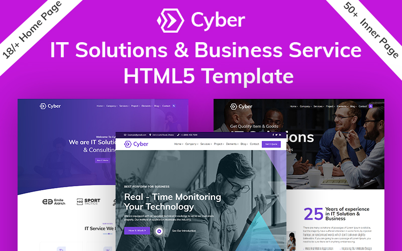 Cyber IT Solution & Business Service HTML5 Template