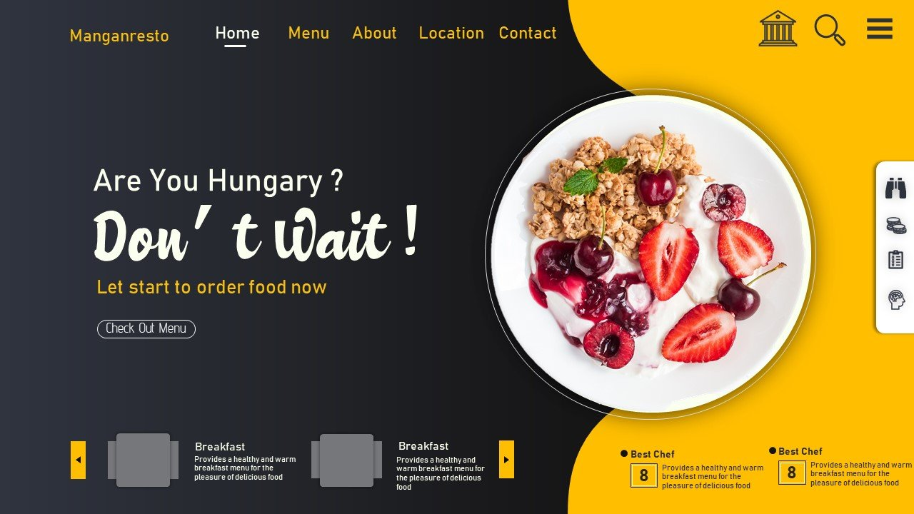 Food-Modern Design PowerPoint template