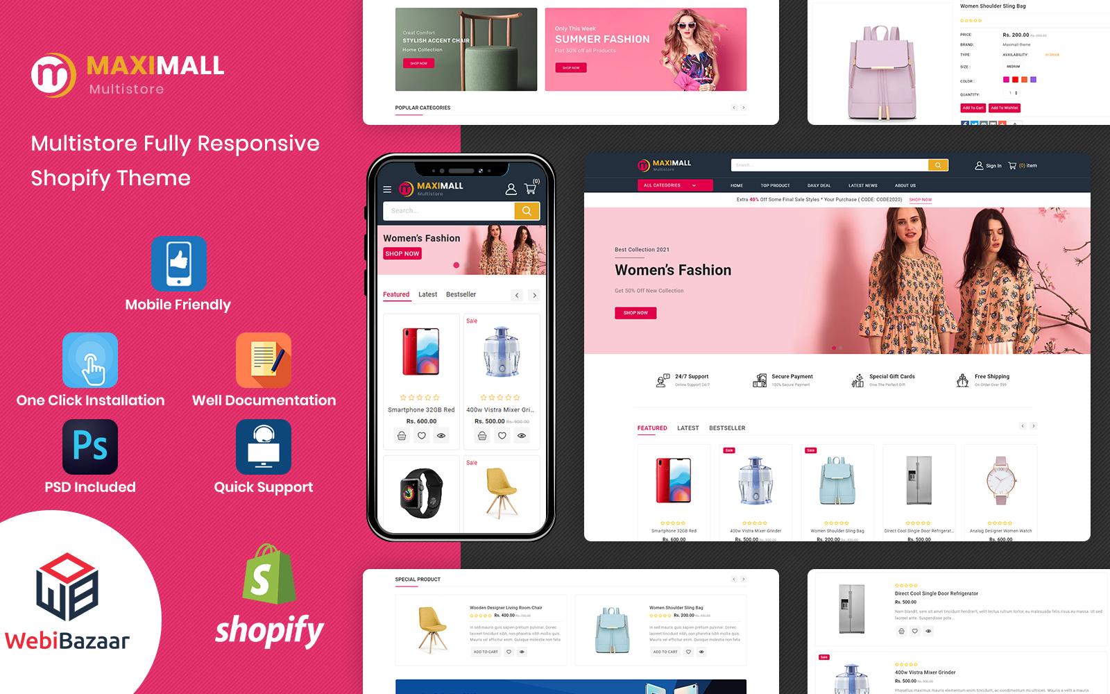 MaxiMall - Multipurpose Premium Shopify Theme