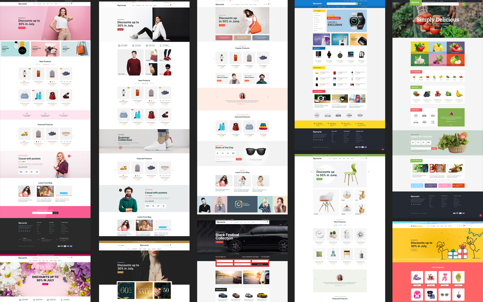 Flipmarto - Multipurpose Website Template