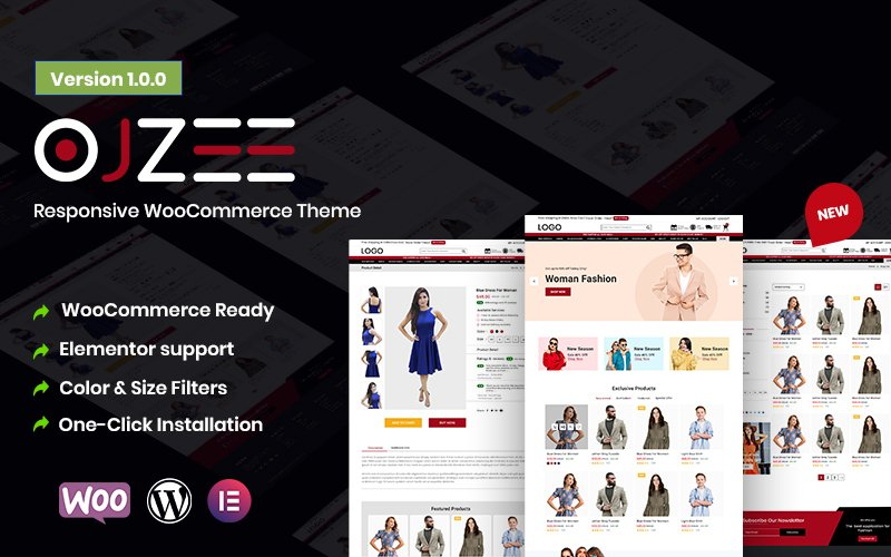 Ojzee - Responsive eCommerce WordPress Theme for WooCommerce
